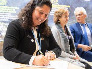 """COP25: Ministra Muñoz suscribe plan de acción para implementar """"Pacto de Leticia"""""""