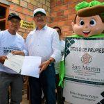 Gobierno Regional de San Martín otorgará títulos a 90 mil predios rurales