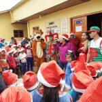 Dan alegría por fiestas navideñas a niñez de comunidades rurales
