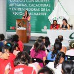 Ministerio de la Mujer dialogó con cacaoteras y artesanas de San Martín