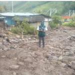 Inspeccionan zonas en emergencia ante lluvias intensas en selva central
