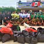 Retiran dos toneladas de basura de la ribera del río Ucayali