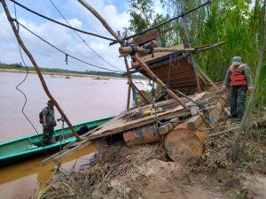 Madre de Dios: Intervienen equipo de minería ilegal valorizado en más de s/. 790 800