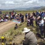 Comunidades de Espinar protestan contra la discriminación laboral de Antapaccay