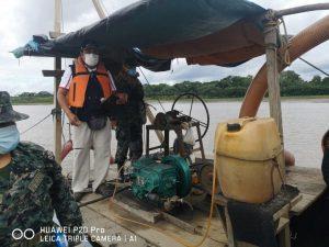 Madre de Dios: Destruyen draga usada para minería ilegal en Puerto Pardo