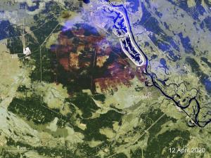 Supervisan con satélites incendios forestales en Chernobyl